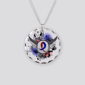 Pulmonary Fibrosis Grunge Ri Necklace Circle Charm