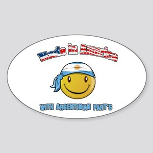 Made in America with Argentin Oval Sticker
