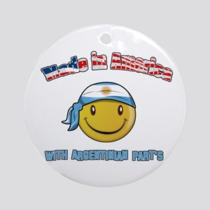 Made in America with Argentin Ornament (Round)
