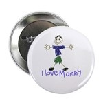 """I Love Mommy- Son 2.25"""" Button (100 pack)"""
