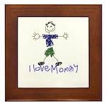 I Love Mommy- Son Framed Tile