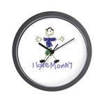 I Love Mommy- Son Wall Clock