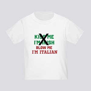 Kiss me Irish Italian T-Shirt