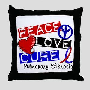 Pulmonary Fibrosis Peace Love Cure 1 Throw Pillow