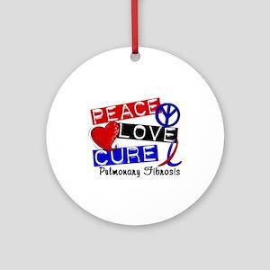 Pulmonary Fibrosis Peace Love Cur Ornament (Round)