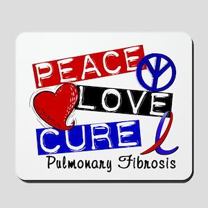 Pulmonary Fibrosis Peace Love Cure 1 Mousepad