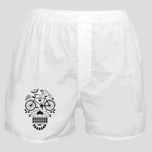 Day Of The Dead Bike  Boxer Shorts