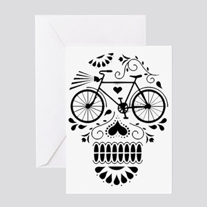 Day Of The Dead Bike  Greeting Card