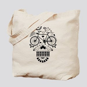 Day Of The Dead Bike  Tote Bag