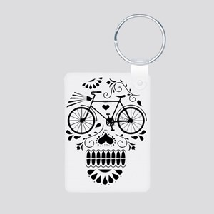 Day Of The Dead Bike  Aluminum Photo Keychain