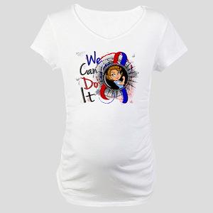 Pulmonary Fibrosis Rosie Cartoon Maternity T-Shirt