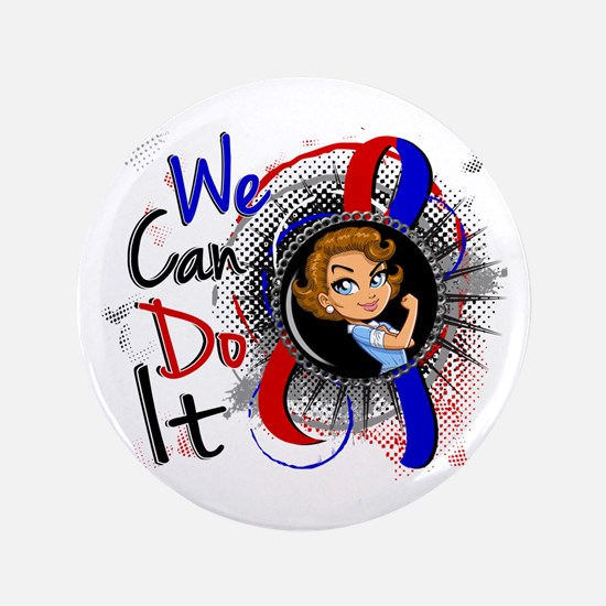 "Pulmonary Fibrosis Rosie Cartoon 1 3.5"" Button"