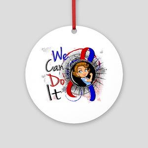 Pulmonary Fibrosis Rosie Cartoon Ornament (Round)