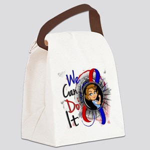 Pulmonary Fibrosis Rosie Cartoon Canvas Lunch Bag