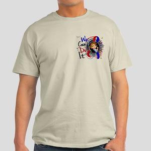 Pulmonary Fibrosis Rosie Cartoon 1 Light T-Shirt