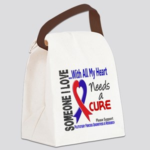 Pulmonary Fibrosis Needs a Cure 3 Canvas Lunch Bag