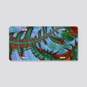 freaky friday red green Aluminum License Plate