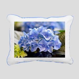 Blue hortensia Rectangular Canvas Pillow