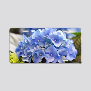 Blue hortensia Aluminum License Plate