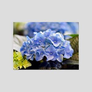 Blue hortensia 5'x7'Area Rug