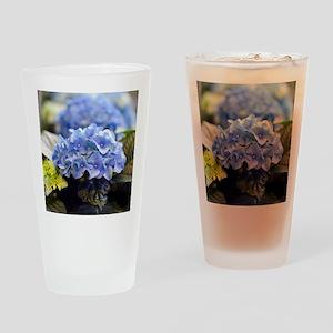 Blue hortensia Drinking Glass