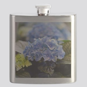 Blue hortensia Flask