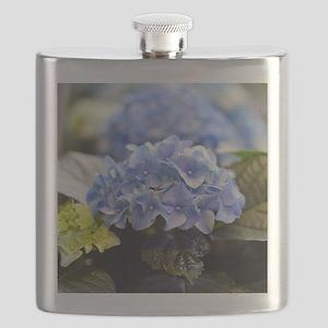 Blue hortensia Flask