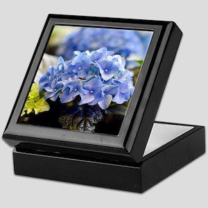 Blue hortensia Keepsake Box