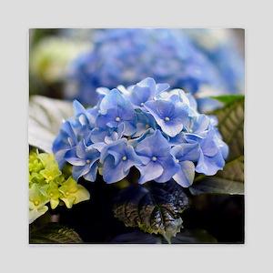 Blue hortensia Queen Duvet