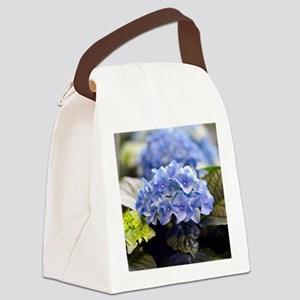 Blue hortensia Canvas Lunch Bag