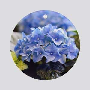 Blue hortensia Ornament (Round)