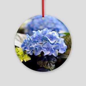 Blue hortensia Ornament (Round)