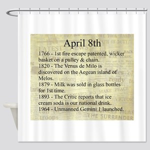 April 8th Shower Curtain