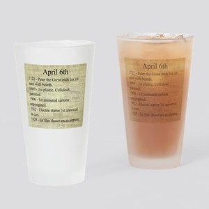 April 6th Drinking Glass