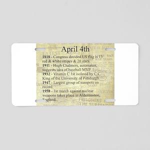 April 4th Aluminum License Plate
