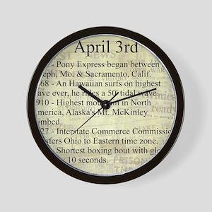 April 3rd Wall Clock