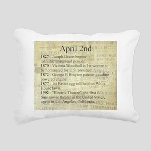 April 2nd Rectangular Canvas Pillow