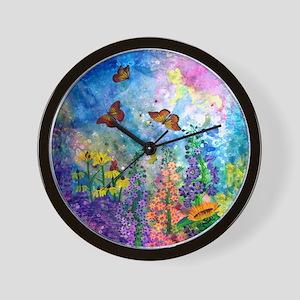 Butterfly Garden 9.5 Inch Wall Clock