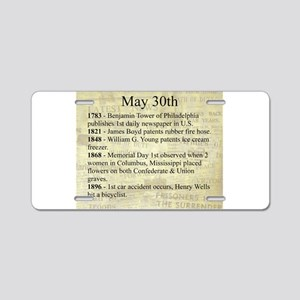 May 30th Aluminum License Plate