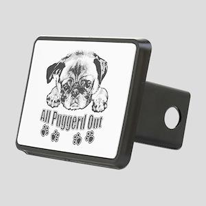 Puggerd out pug Rectangular Hitch Cover