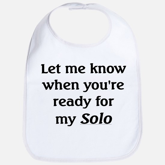Ready for my Solo -- new items Bib
