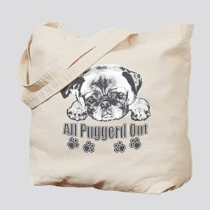 Puggerd out pug Tote Bag