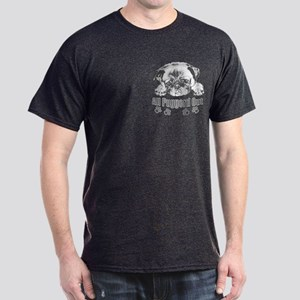 Puggerd out pug Dark T-Shirt