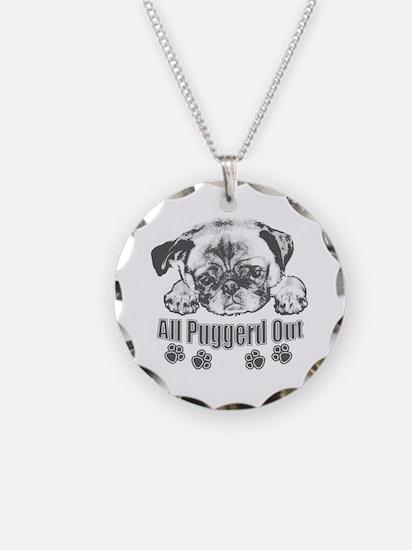 Puggerd out pug Necklace