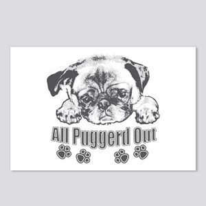 Puggerd out pug Postcards (Package of 8)