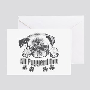 Puggerd out pug Greeting Card