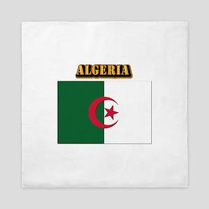 Flag of Algeria with Text Queen Duvet