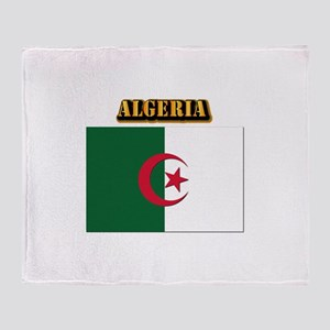 Flag of Algeria with Text Throw Blanket