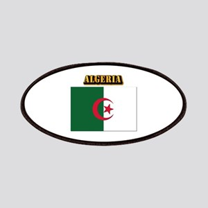 Flag of Algeria with Text Patches
