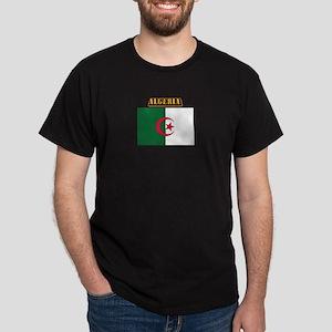 Flag of Algeria with Text Dark T-Shirt